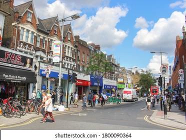 London, UK - August 3 2020: Peckham High Street in South London, UK