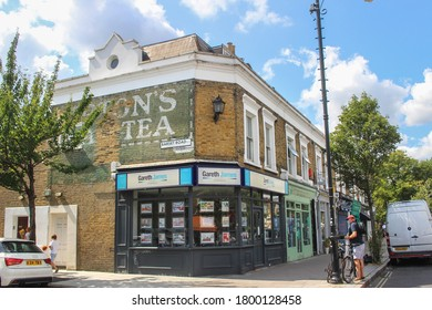 London / UK - August 3 2020: Nunhead  Village High Street in Peckham in south east London