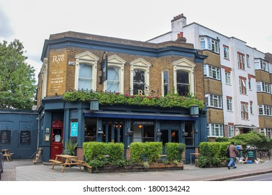 London / UK - August 3 2020: The Rye, a pub in Peckham Rye, south London