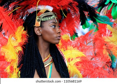London, UK, August 30th 2015: Participant in the Notting Hill Carnival