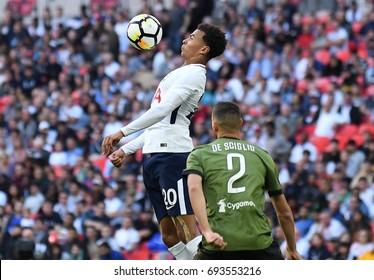 LONDON, UK - AUGUST 5, 2017: Dele Alli of Tottenham pictured during the 2017/18 preseason friendly between Tottenham and Juventus at Wembley Stadium.