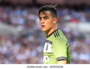 LONDON, UK - AUGUST 5, 2017: Paulo Dybala of Juventus pictured during the 2017/18 preseason friendly between Tottenham and Juventus at Wembley Stadium.