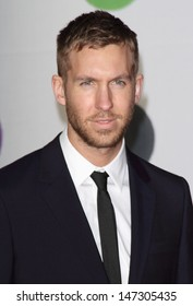 London, UK.  Calvin Harris   at    the 2013 Brit Awards held at the O2 Arena in North Greenwich. 21 February 2012.
