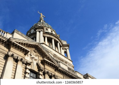 London, UK - Central Criminal Court also known as Old Bailey.