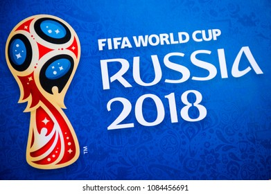 London, UK - CIRCA APRIL 2018: Close-up abstract shot of World Cup ticket envelope. Illustrative Editorial