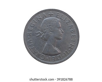 LONDON, UK - CIRCA DECEMBER 2013: six pence coin (GBP) released in 1963