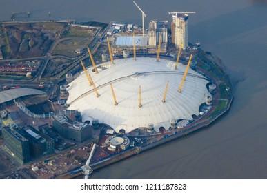 LONDON, UK - CIRCA DECEMBER 2014: Millenium dome in London town
