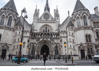 LONDON, UK - CIRCA JANUARY, 2018: The Royal Courts of Justice building.