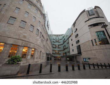 LONDON, UK - CIRCA JUNE 2016: BBC Broadcasting House headquarters of the British Broadcasting Corporation in Portland Place