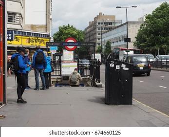 LONDON, UK - CIRCA JUNE 2017: Notting Hill Gate tube station