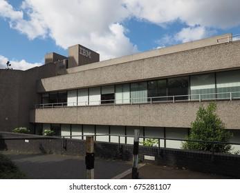 LONDON, UK - CIRCA JUNE 2017: IBM iconic new brutalist architecture landmark designed by Denys Lasdun
