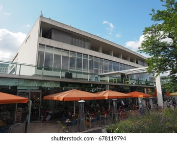 LONDON, UK - CIRCA JUNE 2017: The Royal Festival Hall built as part of the Festival of Britain national celebrations in 1951 is still in use as a major music and entertainment venue