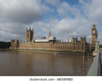 LONDON, UK - CIRCA JUNE 2017: Houses of Parliament aka Westminster Palace