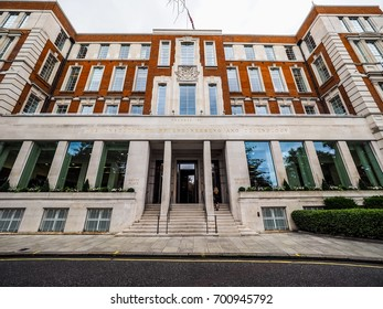 LONDON, UK - CIRCA JUNE 2017: Savoy Place, Institution of Electrical Engineers (high dynamic range)