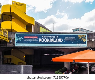 LONDON, UK - CIRCA JUNE 2017: Adventures in Moominland exhibition at Southbank Centre (high dynamic range)