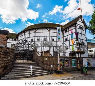 LONDON, UK - CIRCA JUNE 2017: The Shakespeare Globe Theatre (high dynamic range)