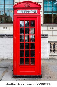 LONDON, UK - CIRCA JUNE 2017: Traditional red telephone box (high dynamic range)