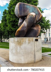 LONDON, UK - CIRCA JUNE 2017: Sculpture titled Locking Piece by sculptor Henry Moore (high dynamic range)