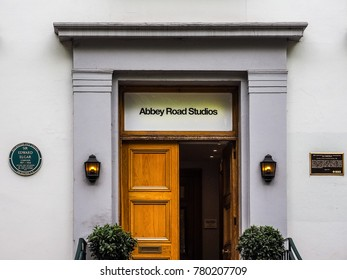 LONDON, UK - CIRCA JUNE 2017: Abbey Road recording studios made famous by the 1969 Beatles album cover (high dynamic range)