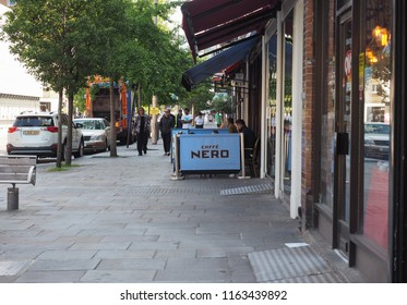 LONDON, UK - CIRCA JUNE 2018: Caffe Nero Italian bar