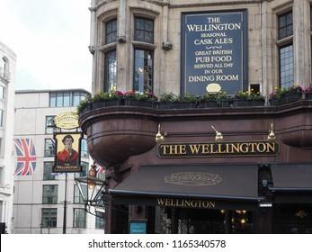 LONDON, UK - CIRCA JUNE 2018: The Wellington public house