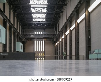 LONDON, UK - CIRCA MARCH, 2008: The Turbine Hall which once housed the electricity generators of the power station is now a huge open public space part of Tate Modern art gallery in South Bank