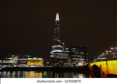 LONDON, UK - CIRCA SEPTEMBER 2016: The Shard skyscraper designed by Italian architect Renzo Piano is the highest building in town