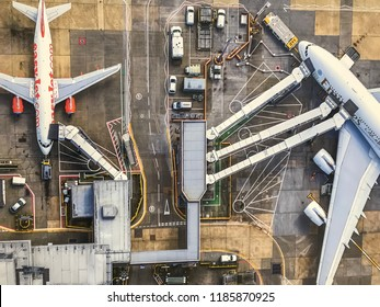 London, UK - Circa September, 2018: A top down picture of the Gatwick airport
