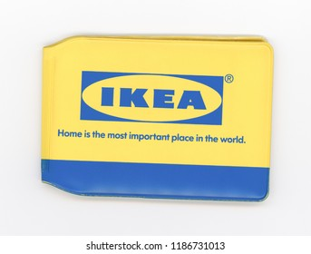 LONDON, UK - CIRCA SEPTEMBER 2018: IKEA advertisement on cardholder