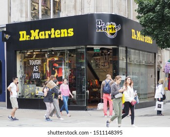 LONDON, UK - CIRCA SEPTEMBER 2019: Dr Martens storefront
