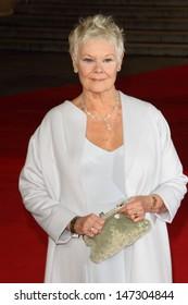 London, UK. Dame Judi Dench at the Royal World Premiere of 'Skyfall' at the Royal Albert Hall, Kensington. 23rd October 2012.