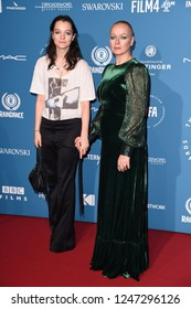 LONDON, UK. December 02, 2018: Samantha Morton & daughter, Esme Creed-Miles at the British Independent Film Awards 2018 at Old Billingsgate, London.