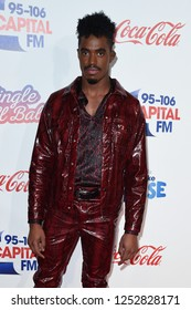 LONDON, UK. December 08, 2018: Dalton Harris at Capital's Jingle Bell Ball 2018 with Coca-Cola, O2 Arena, London.