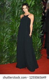 LONDON, UK. December 10, 2018: Victoria Beckham at The Fashion Awards 2018 at the Royal Albert Hall, London.
