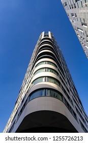 LONDON, UK - DECEMBER 11, 2018: Eagle House, City Road. London. Shoreditch business centre near Old Street.