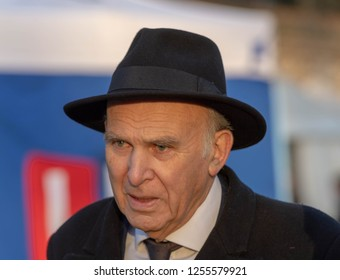 LONDON UK DECEMBER 11TH 2018 Vince Cable, Leader of the Liberal Democrats, talks to the media on the Brexit agreement