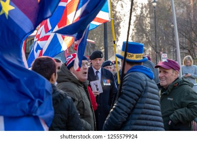LONDON UK DECEMBER 11TH 2018, CLASHES BETWEEN PRO AND ANTI BREXIT SUPPORTERS OUTSIDE THE hOUSE OF COMMONS