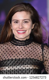 "LONDON, UK. December 12, 2018: Rachel Shenton at the UK premiere of ""Mary Poppins Returns"" at the Royal Albert Hall, London.