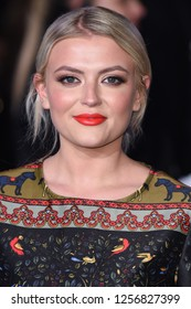 "LONDON, UK. December 12, 2018: Lucy Fallon at the UK premiere of ""Mary Poppins Returns"" at the Royal Albert Hall, London.