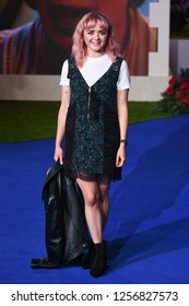 "LONDON, UK. December 12, 2018: Maisie Williams at the UK premiere of ""Mary Poppins Returns"" at the Royal Albert Hall, London.