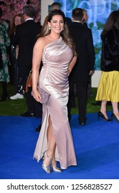 "LONDON, UK. December 12, 2018: Kelly Brook at the UK premiere of ""Mary Poppins Returns"" at the Royal Albert Hall, London.