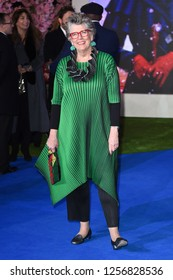 "LONDON, UK. December 12, 2018: Prue Leith at the UK premiere of ""Mary Poppins Returns"" at the Royal Albert Hall, London.