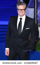"LONDON, UK. December 12, 2018: Colin Firth at the UK premiere of ""Mary Poppins Returns"" at the Royal Albert Hall, London.