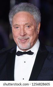 "LONDON, UK. December 12, 2018: Sir Tom Jones at the UK premiere of ""Mary Poppins Returns"" at the Royal Albert Hall, London.