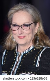 "LONDON, UK. December 12, 2018: Meryl Streep at the UK premiere of ""Mary Poppins Returns"" at the Royal Albert Hall, London.