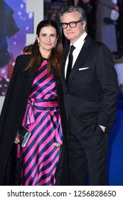 "LONDON, UK. December 12, 2018: Livia Firth & Colin Firth at the UK premiere of ""Mary Poppins Returns"" at the Royal Albert Hall, London.