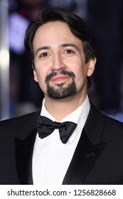 "LONDON, UK. December 12, 2018: Lin-Manuel Miranda at the UK premiere of ""Mary Poppins Returns"" at the Royal Albert Hall, London.