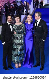 "LONDON, UK. December 12, 2018: Lin-Manuel Miranda, Emily Mortimer, Emily Blunt & Colin Firth at the UK premiere of ""Mary Poppins Returns"" at the Royal Albert Hall. Picture: Steve Vas/Featureflash"