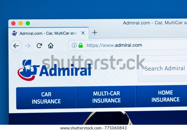 Admiral Car Insurance >> London Uk December 14th 2017 Homepage Stock Photo Edit Now