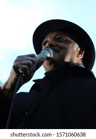 London / UK - December 15th 2011: Preacher and Civil Rights Campaigner Jesse Jackson talks at Occupy London protest deomstration camp outside St Paul's Cathedral